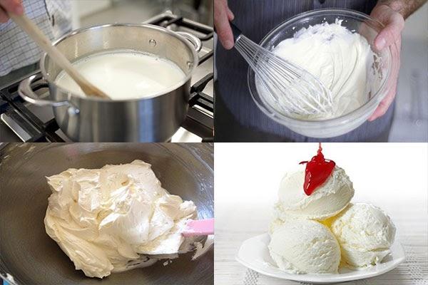 Hướng dẫn cách làm kem bằng máy đánh trứng ngon khó cưỡng